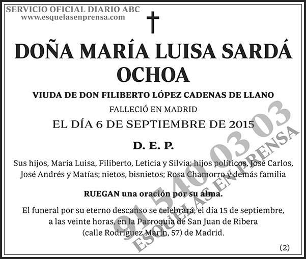 María Luisa Sardá Ochoa